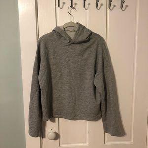 Tops - Hooded Grey Marl Zara Sweatshirt